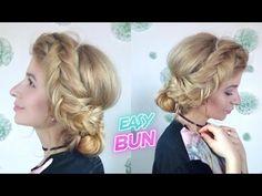 CUTE HAIRSTYLE EASY DUTCH FISHTAIL BRAID SIDE BUN UPDO   Awesome Hairstyles