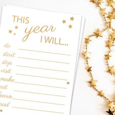 New Year's Resolutions List NYE party games   Etsy