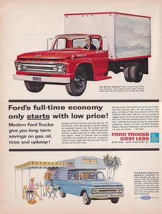 1962 Ford Truck Ad by saltycotton, via Flickr
