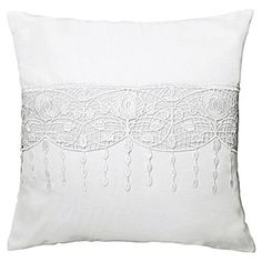 Art Deco White Macrame Knitted Pair Of Voile Stunning Cushion Cover Cases Bed Pillows, Cushions, Knit Art, Art Deco Fashion, Cushion Covers, Macrame, Tapestry, Cases, Conservatory