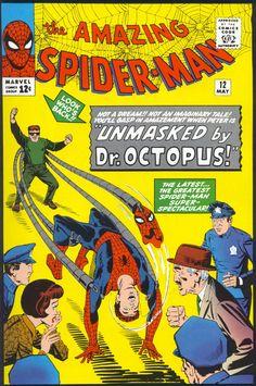 Amazing Spider-Man # 12 , May 1964 , Marvel Comics Vol 1 1963 Marvel Comic Books, Marvel Characters, Comic Books Art, Book Art, Marvel Heroes, Marvel Art, Book Characters, Bubble Bobble, Amazing Spider Man Comic