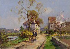 Edouard Leon Cortes (1882 - 1969) Printemps en Normandie
