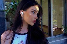 Perfect Nose, Black Hair, Pearl Earrings, Pearls, Jewelry, Fashion, Hair Black Hair, Moda, Pearl Studs