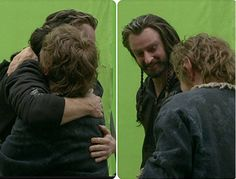 The Hobbit BOfTA behind the scenes BTS - Richard Armitage and Martin Freeman - https://instagram.com/thorin_only/