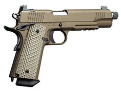 Kimber America Desert Warrior (TFS) ACP 1911 Handgun with Threaded Barrel Tactical Survival, Tactical Gear, Kimber America, Threaded Barrel, 1911 Pistol, Lethal Weapon, Tactical Equipment, Custom Guns, Cool Guns
