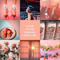 Halsey/peach aesthetic moodboard, my edit