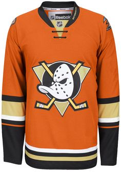 a601df0f5 Anaheim Ducks Reebok EDGE Authentic Third NHL Jersey (Made In Canada)  CoolHockey