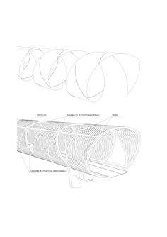 Arganzuela Footbridge / Dominique Perrault Architecture,axonometric