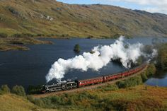 Jacobite steam train - Fort William to Mallaig on the West Highland Line, Scotland