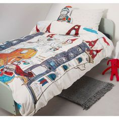 Dragon Castle quilt cover set is perfect for boys or girls that love dragons. Available in single bed size.