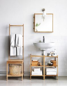 2 IKEA Ragrund stands for clever bathroom storage