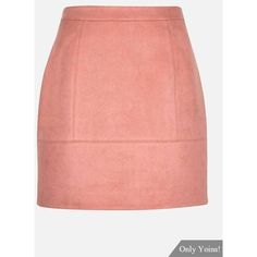 Yoins Pink Suede Mini Skirt ($15) ❤ liked on Polyvore featuring skirts, mini skirts, black, mini skirt, pink miniskirt, short skirts, suede a line skirt and suede skirt