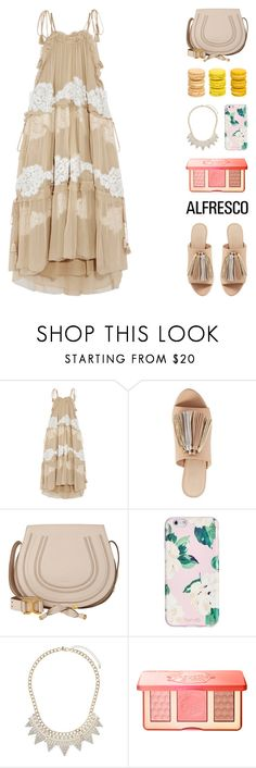 """""""Summer Macaroon"""" by igedesubawa ❤ liked on Polyvore featuring Chloé, Loeffler Randall, ban.do, Miss Selfridge, Too Faced Cosmetics and Ladurée"""