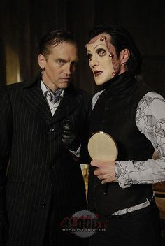 Luigi Largo (Bill Moseley) and Pavi Largo (Ogre). The killer and the face stealer. I can't get enough of these two! Bill and Ogre are wonderful together! Repo! The genetic opera!