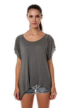 Meaneor Women's Stretch Knit Stripe Tunic with Trapeze & Uneven Hem Dark Gray L Meaneor http://www.amazon.com/dp/B00ZQJU0XC/ref=cm_sw_r_pi_dp_r6Agwb1MPRSVT