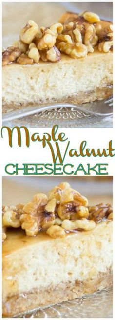 Creamy rich maple cheesecake with a walnut shortbread crust and a heaping maple-nut topping! Creamy rich maple cheesecake with a walnut shortbread crust and a heaping maple-nut topping! Cheesecake Crust, Cheesecake Toppings, Low Carb Cheesecake, Cheesecake Recipes, Chocolate Cheesecake, Ultimate Cheesecake, Homemade Cheesecake, Cheesecake Cookies, Coconut Hot Chocolate