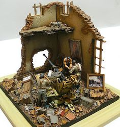 """MODELISMO Y MODELISTAS """"THE MASTERS"""" II (ANEXO DIORAMA): """"Little Calm"""" Esc 1/35 by Artur Walachowsky Model Hobbies, Military Action Figures, Military Diorama, Toy Soldiers, Plastic Models, Dioramas, Dieselpunk, Shadow Box, Diy Crafts"""