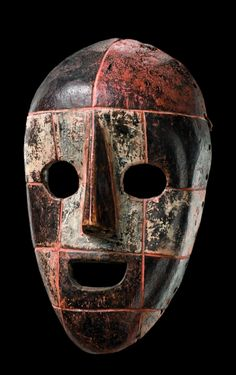 Africa | Mask from the Ituri region of DR Congo | Wood and pigment
