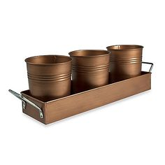 Metal pails add a touch of timeless charm to a container garden. All you likely need to do to prep your pails for planting is to drill a few holes in the bottoms of them. They look great set around a patio or hung on the edge of a fence or wall. Want a repurposed vibe? Use washed, old paint cans or even metal food cans.