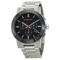 Black Dial Chronograph Stainless Steel Men's Watch