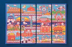To celebrate the 20th anniversary of the Taipei Metro system, this One-day Pass Ticket design features 20 unique city images, in which 20 Taiwan macaque monkeys are looking for celestial peaches. In Taiwanese culture peach represents longevity and 2016 is…