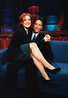 gillian anderson and jon stewart- love this!