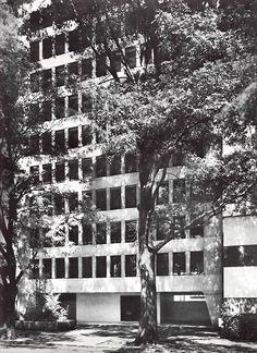 Edificio de Oficinas, Av. de los Insurgentes Sur 1824, Florida, Álvaro Obregón, México, DF 1967 Arq. Benjamin Méndez Savage Office building,...