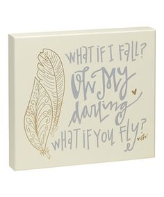 Look at this 'What If You Fly' Box Sign on #zulily today!