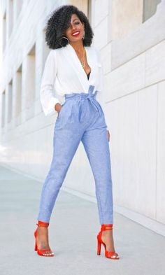 Outfit Details: Top (old-sold out): Similar here, here or there Work Fashion, Fashion Pants, Fashion Outfits, Womens Fashion, Fashion Fall, Fashion Fashion, Latest Fashion, Fashion Trends, Classy Outfits