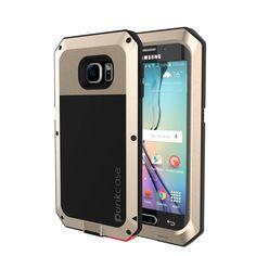 Galaxy S6 EDGE  Case, PUNKcase Metallic Gold Shockproof  Slim Metal Armor Case