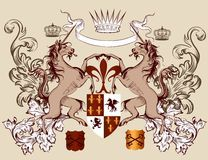 Heraldry is always appealing, without shields, insert monogram? Not unicorn horse dragons.