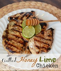 Grilled Honey Lime Chicken Breast Juice and zest from 2 limes 1/2 cup honey 2 T. Worcestershire sauce 1 t. sea salt 1/2 t. fresh black pepper 1/2 t. cumin 4 large or 6 medium boneless, skinless chicken breasts Add all the ingredients to a large zipper-top plastic bag, add the chicken and Let the chicken marinade in the fridge for any where between 4 hours to overnight. Grill
