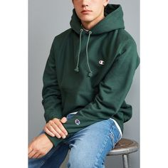 e29c2b0a370 Champion Reverse Weave Hoodie Sweatshirt ( 54) ❤ liked on Polyvore  featuring men s fashion