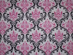 pink and black demask print. for bathroom?