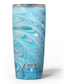 Mixed Blue Oil Yeti Rambler Skin Kit from DesignSkinz