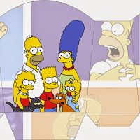 The Simpsons: Free Printable Boxes.