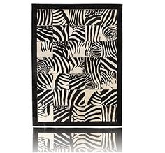 Zebra Kuhfell Teppich Patchwork Rindsleder Leder Stier Co…