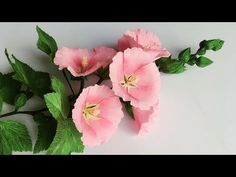 ABC TV | How To Make Hollyhock Paper Flower From Crepe Paper - Craft Tut...
