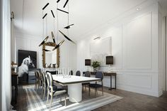 Não bastasse esse apartamento ter uma das decorações mais lindas que eu já vi, ele é em PARIS!!!!!! A decoração em branco e preto com detalhes de roxo ficou chiquerrima…. o que vocês acham? Imagens via: Home Adore Que sonho… fala a verdade?!