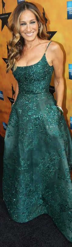 Sarah Jessica Parker wearing a Elie Saab Haute Couture ball gown