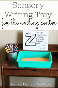 Sensory Writing Tray for the Writing Center - Pre-K Pages