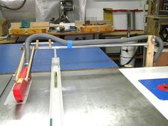 Table Saw SUVA Guard System with Dust Collection