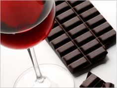 pinot noir and dark, organic chocolate contain polyphenols and flavanoids - great anitoxidants. enjoy in moderation! yuuum