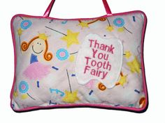 Tooth Fairy Pillow For Girls in Pink Handmade by craftcrazy4u, $15.00