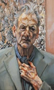 by Lucian Freud____ The veins in the hand and the folds/bags around the eyes. Incredible use of color and brush work. Image detail for -sad news lucian freud one of the greats of british post war painting . Lucian Freud Portraits, Lucian Freud Paintings, Oil Canvas, Robert Rauschenberg, Artists And Models, Edward Hopper, Art Brut, David Hockney, Art Moderne