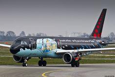 https://flic.kr/p/rtawvt   LFPG 22 mars 2015 Airbus A320 Brussels Airlines Rackham tintin sheme OO-SNB