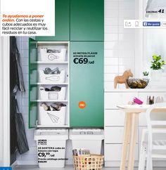 metod armario de pared con baldas blanco fldie verde