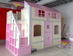 Teenage Girl Bedrooms, Girls Bedroom, Kids Bedroom Furniture, Bedroom Decor, Castle Bed, House Beds, Little Girl Rooms, Kid Beds, Dream Bedroom