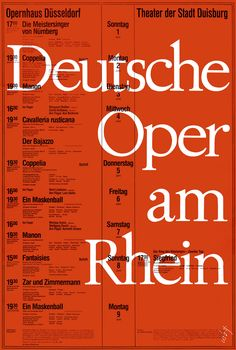 https://flic.kr/p/eZwjYK | Bergmann (Walther, DE) um 1965 Deutsche Oper am Rhein Düsseldorf (Eindruckplakat) Plakat A1 - TMD | Quelle: Theatermuseum Düsseldorf
