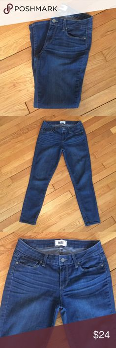 Paige Verdugo crop jeans Paige Verdugo crop jeans in a size 28. Excellent used condition. PAIGE Jeans Ankle & Cropped